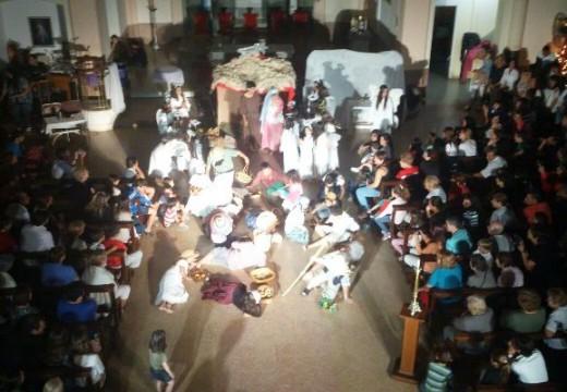 Se realizó el tradicional Pesebre Viviente en Nuestra Sra. De la Merced.