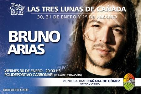 Bruno Arias en Las Tres Lunas de Cañada.