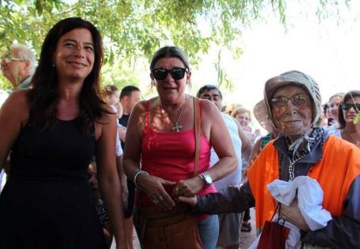 Cañada de Gómez. Bienvenida oficial a la abuela peregrina.