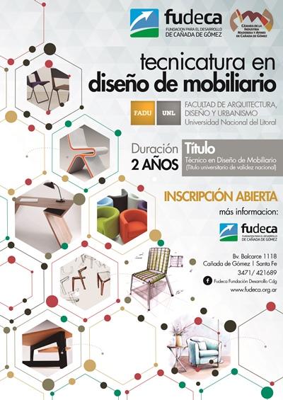 Tecnicatura en Diseño de Mobiliario en Cañada.