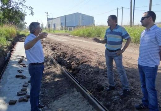 Diego Mansilla y Horacio Compagnucci recorrieron varias obras en la ciudad.
