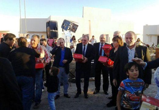 La provincia entregó 168 viviendas en Las Rosas.