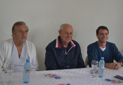 Hector Cavallero estuvo en Armstrong apoyando  la lista del Dr. Augusto Fischer.