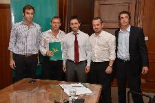 Mansilla y Compagnucci participaron de la firma del convenio de ejecución del Plan Estratégico Las Parejas 2020/25