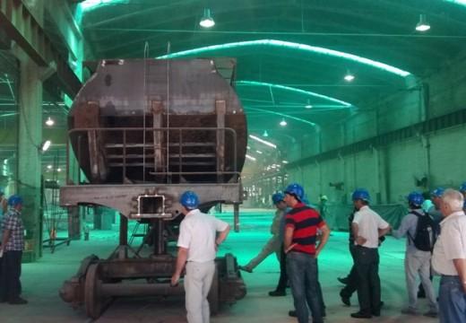 """Una importante delegación de empresarios parejenses visitó la planta RIO TERCERO de """"Fabricaciones Militares""""."""