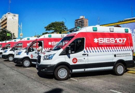 Entregaron ambulancias a 3 localidades del departamento Iriondo.