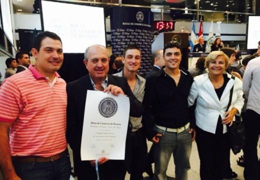 La intendenta Clerici participó del remate del primer lote de soja Campaña 2014/15.