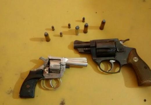 Menor demorado con  dos armas de fuego. (Correa).