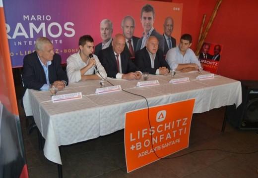 Bonfatti y Lifschitz visitaron nuevamente Las Rosas para apoyar a Ramos y Marentes.