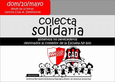 Colecta Solidaria en el Clásico local.