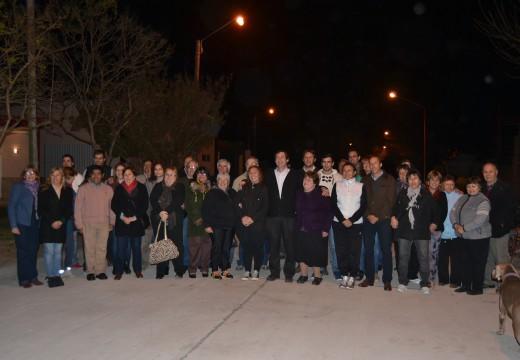 Armstrong. Quedó habilitada la pavimentación en calle Moreno entre Pte Perón y Delfo Cabrera.