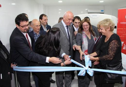 Clérici recibió al gobernador para inaugurar obras en el hospital.