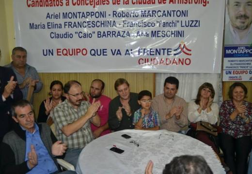 Frente Ciudadano y referentes justicialistas departamentales brindaron su apoyo a Guillermo Cornaglia.