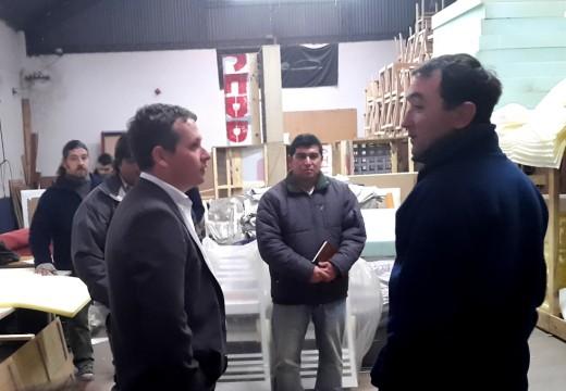 Diego Mansilla visitó empresas y se reunió con militantes y dirigentes en Correa.