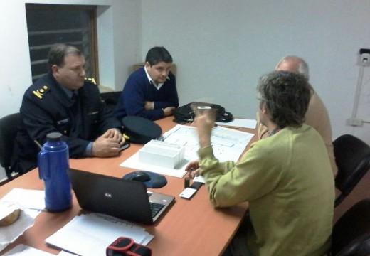 Reunión por obras en la sede de la Unidad Regional X de policía.