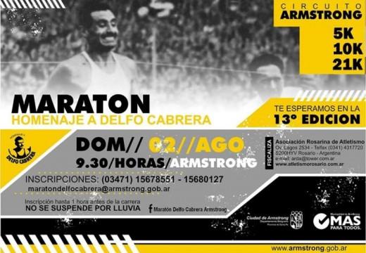 Maratón Homenaje a Delfo Cabrera. Inscripciones locales.