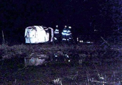 Tumbó un vehículo esta madrugada en la Ruta 178.