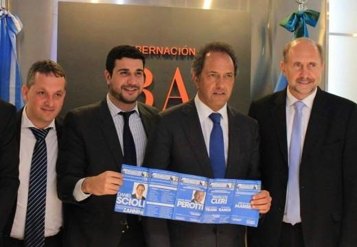 Junto con Omar Perotti, Alejandro Ramos y Diego Mansilla, Marcos Cleri se reunió ayer con Daniel Scioli.