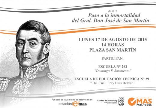 Invitación acto del 17 de agosto 2015.