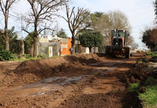 Cañada de Gómez. La gestión municipal inició un nuevo frente de pavimento.