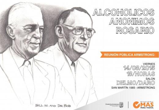 Armstrong. Reunión pública de Alcohólicos Anónimos.