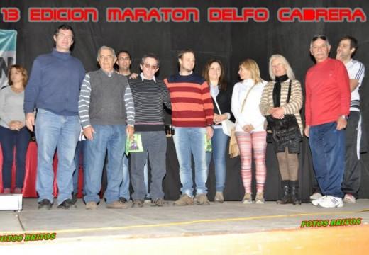 Familiares de Delfo Cabrera en la Maratón de Armstrong.