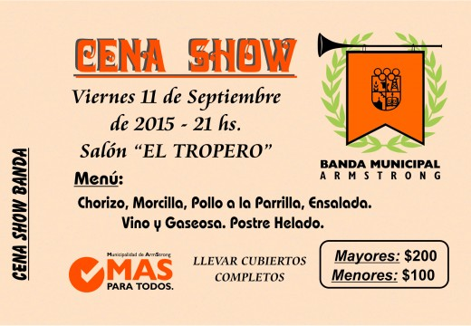Cena Show de la Banda Municipal 11 de septiembre de 2015.