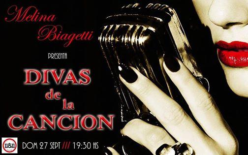 """Melina Biagetti presenta """"Divas de la Canción""""."""
