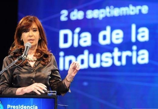 Diego Mansilla y Horacio Compagnucci acompañaron a la Presidenta en el Día de la Industria.