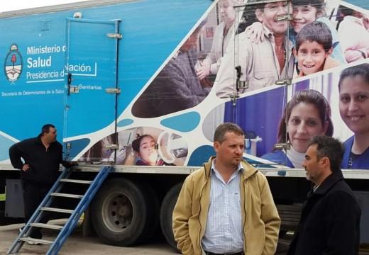 Diego Mansilla destacó la labor del Camión Sanitario nacional en el departamento Belgrano.