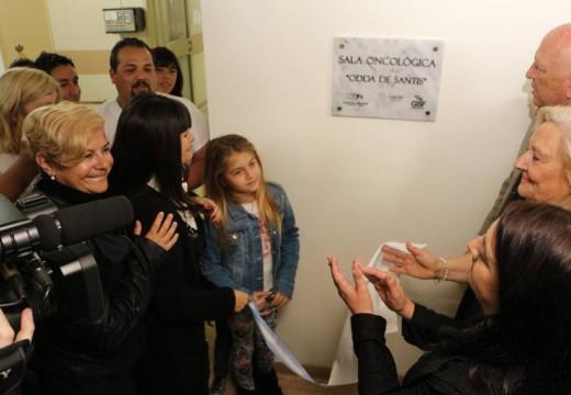 Clérici presente en la inauguración de la Sala Oncológica.