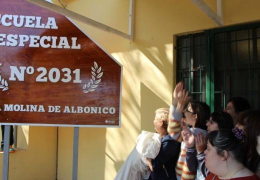 Clérici participó del acto de los 40 años de la escuela especial.