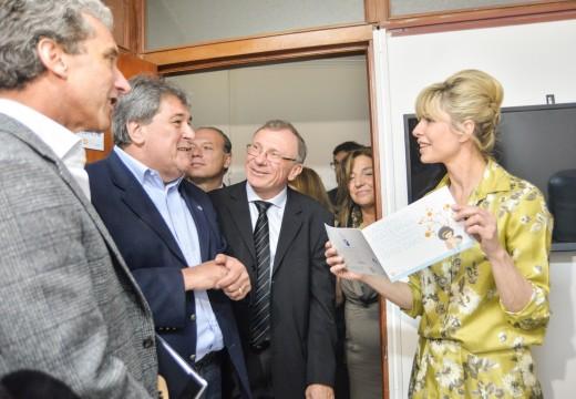José Scioli, Rabolini, Rubeo y Alberto Corssetti inauguraron una Sala Lactaria en el Palacio Legislativo.