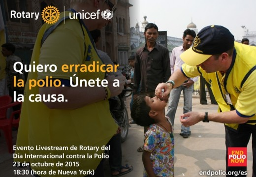 Rotary celebra el Día Mundial de la Lucha contra la Poliomielitis.