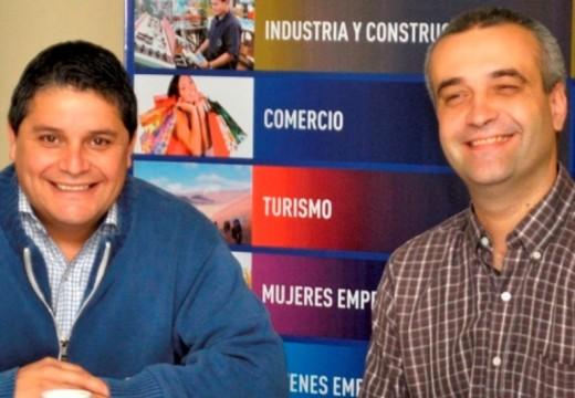 Mauroni y Travaglino en la presentación de trabajos sobre seguridad vial.