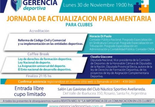Jornada Gratuita de actualización parlamentaria para clubes, centros e instituciones deportivas.