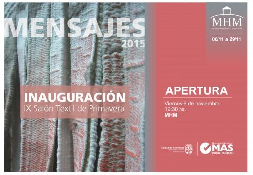 """Nueva muestra """"Mensajes 2015"""" en el Museo Histórico Municipal."""