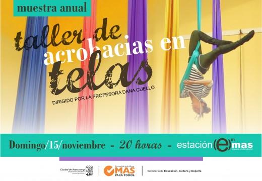 Muestra anual de Acrobacias en Telas 2015.