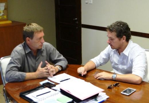 Compagnucci mantuvo una reunión con  Diego Mansilla Parlamentario del Mercosur.