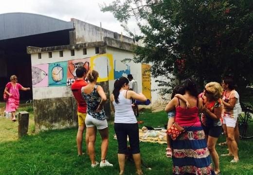Panchi Bossoletti con un nuevo proyecto para las paredes de la ciudad.