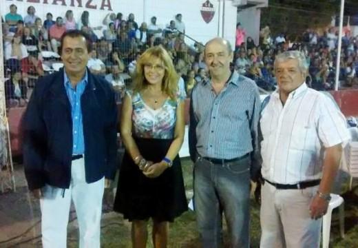 Claudia Giaccone en el «Mundialito de Fútbol Infantil» de Arteaga.