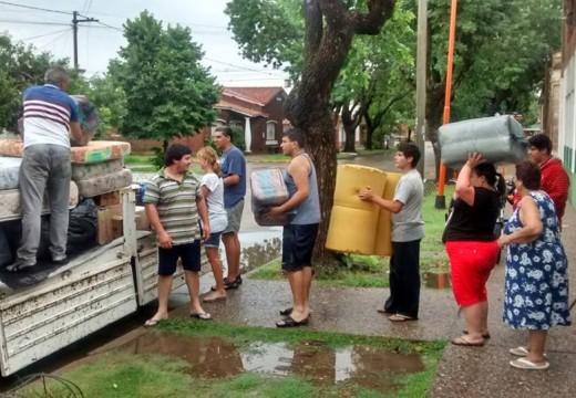 Armstrong. Una escuela envía ayuda a Santo Tomé.