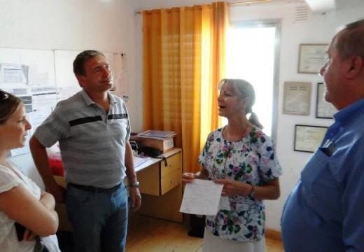 Compagnucci recorrió el Centro de Salud Municipal de Barrio Belgrano.