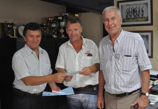 El Diputado Miguel Solís hizo entrega de Subsidio al Club Norte y a Caritas.