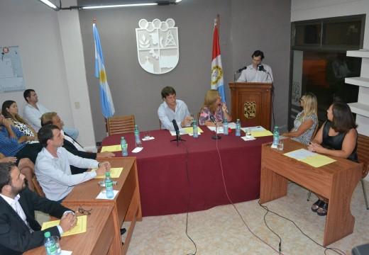 El intendente Verdecchia inauguró el periodo de sesiones en el Concejo Municipal.