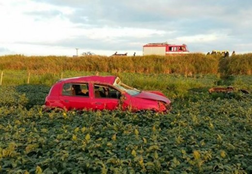 Tumbó un vehículo en la Ruta 15.