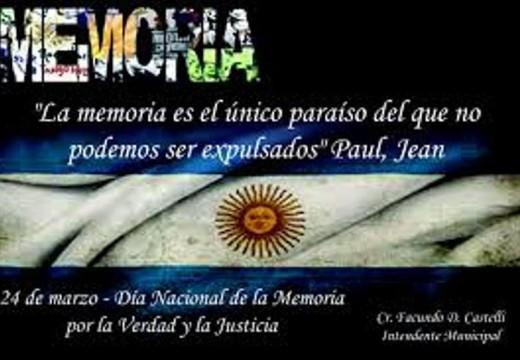 Día de la Memoria: Cañada se moviliza por los 40 años del golpe.