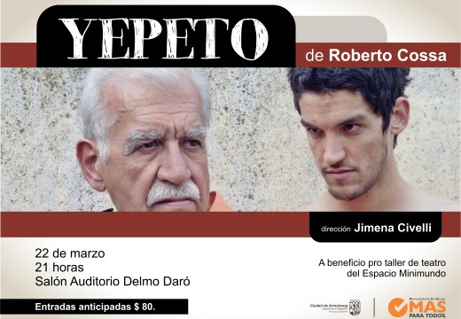 "Llega a Armstrong la obra ""Yepeto"""