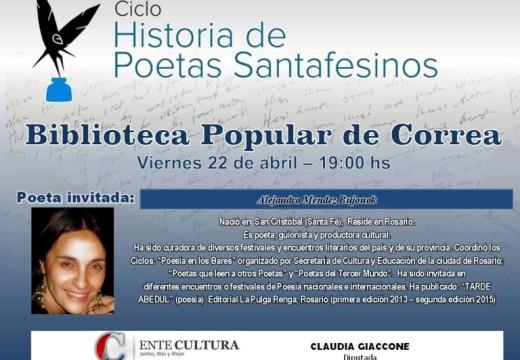 """El Ciclo """"Historias de Poetas Santafesinos"""" llega a Correa."""