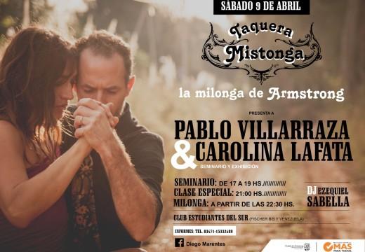 Armstrong. Sábado 9 de abril, tangos y milongas.